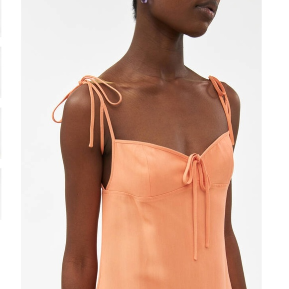 NWT Maryam Nassir Zadeh Serpentine Dress in Papaya